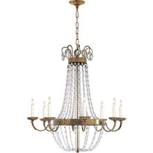 Visual Comfort CHC1408AB-SG E F Chapman Paris Flea Market 8 Light 32 inch Antique-Burnished Brass Chandelier Ceiling Light