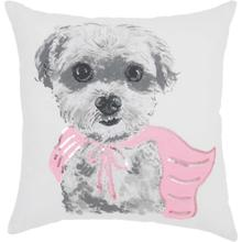 "Trendy, Hip, New-age Jb210 White 18"" X 18"" Throw Pillow"