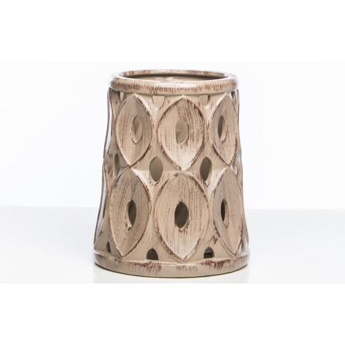 Pavone Ceramic Lantern, Ivory