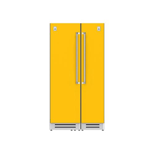 "Hestan - 42"" Column Refrigerator (L) and Freezer ® Ensemble Refrigeration Suite - Sol"