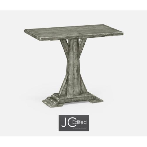 Antique Dark Grey Rectangular Side Table