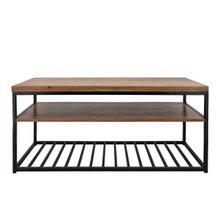 Wood/metal 46x21 2-layered Coffee Table, Brown
