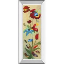 """Wildflower Il"" By Jennifer Zybala Mirror Framed Print Wall Art"