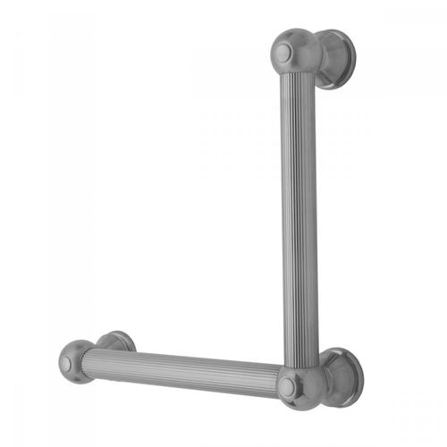 Satin Nickel - G33 24H x 32W 90° Left Hand Grab Bar