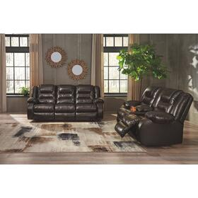Vacherie Reclining Sofa & Console Loveseat Chocolate