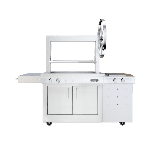 K750 Freestanding Gaucho Grill with Side Burner