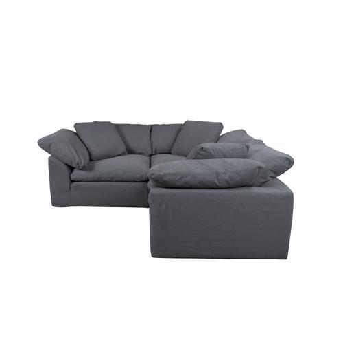 Cloud Puff Slipcovered Modular Sectional Sofa - 391094 (3 Piece)