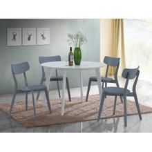 See Details - Roma Contemporary 5-PC Wood Dining Set, Gray