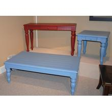 See Details - Brick Louvered Sofa Table
