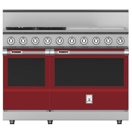 """Hestan - 48"""" 4-Burner Dual Fuel Range with 24"""" Griddle - KRD Series - Tin-roof"""