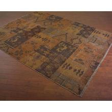 Hand-Woven Patchwork Tribal Rug