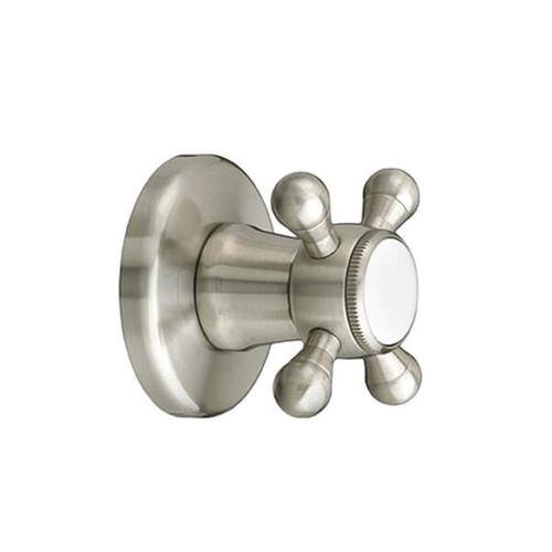 Dxv - Ashbee 1/2 Inch or 3/4 Inch Wall Valve Trim with Cross Handle - Brushed Nickel