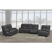 Houston Recliner Loveseat W/console Grey