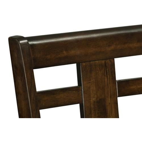 Standard Furniture - Bella 2-Pack Barstools with Leatherette Seat, Cherry Brown