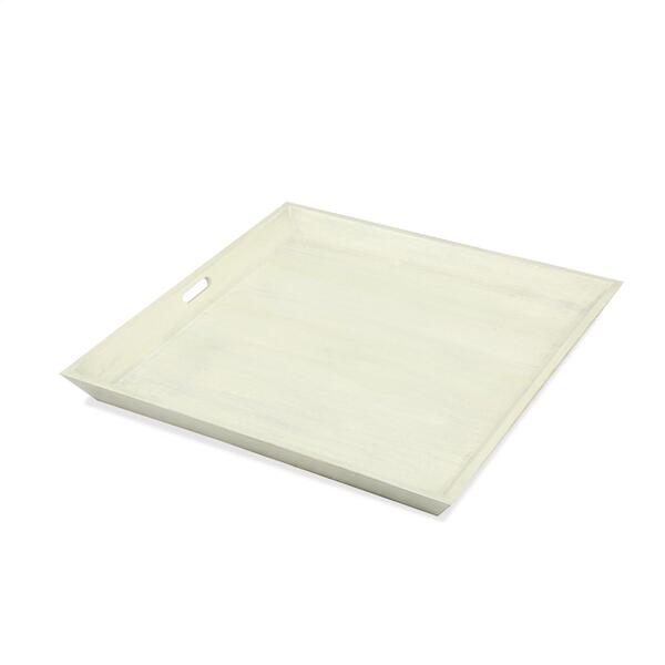 Large Tray - Swiss White Finish