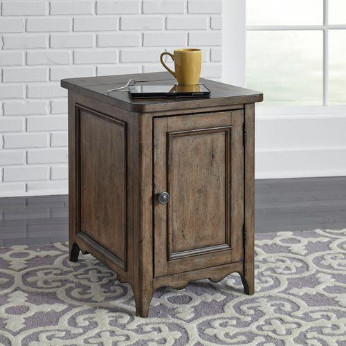 Gallery - Door Chair Side Table w/ Charging Station