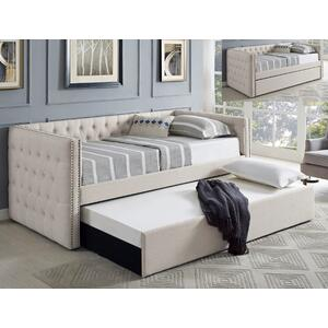 Trina Ivory Daybed Back+ Side Rail