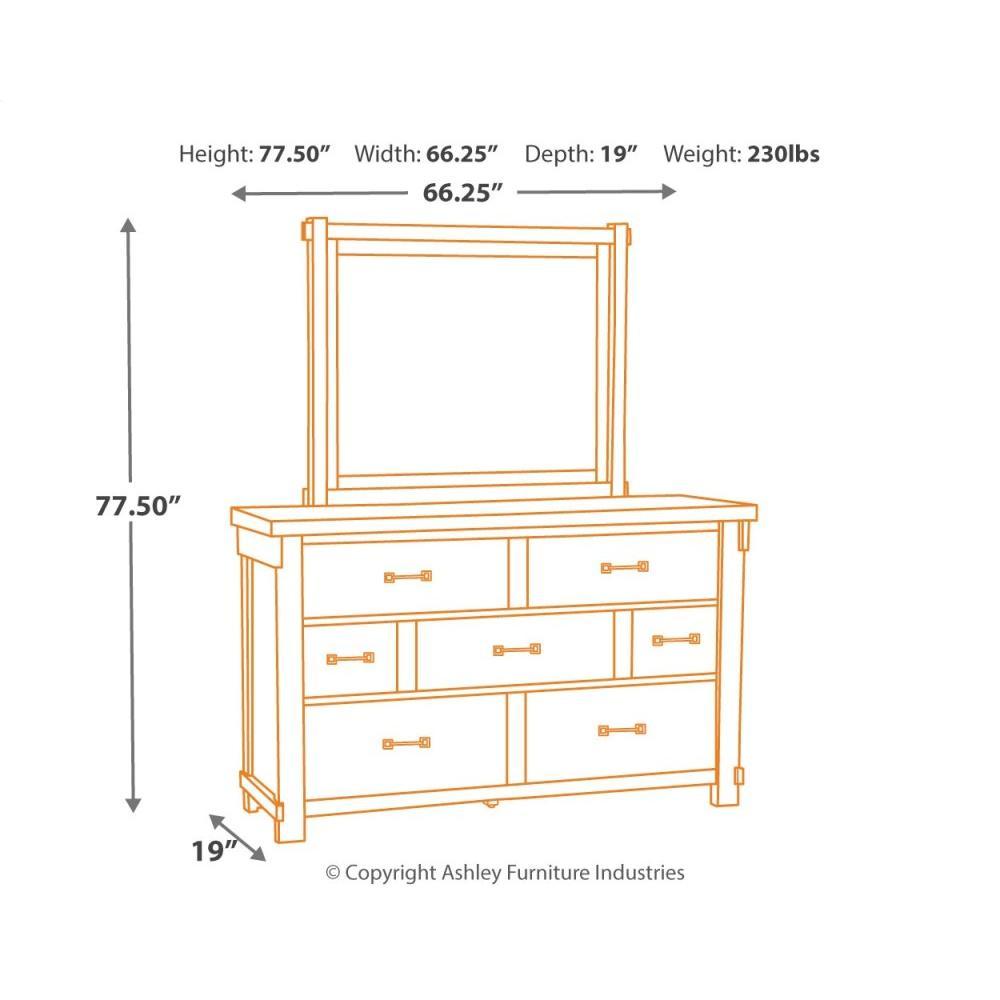 Brashland Dresser and Mirror
