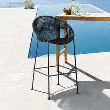 """View Product - Acapulco 26"""" Indoor Outdoor Steel Bar Stool with Black Rope"""