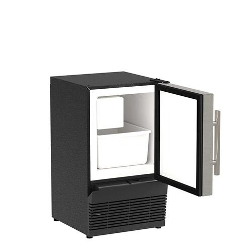 14-In Compact Crescent Ice Maker with Door Style - Stainless Steel