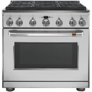 "Cafe Appliances  36"" Dual-Fuel Professional Range with 6 Burners (Natural Gas)"