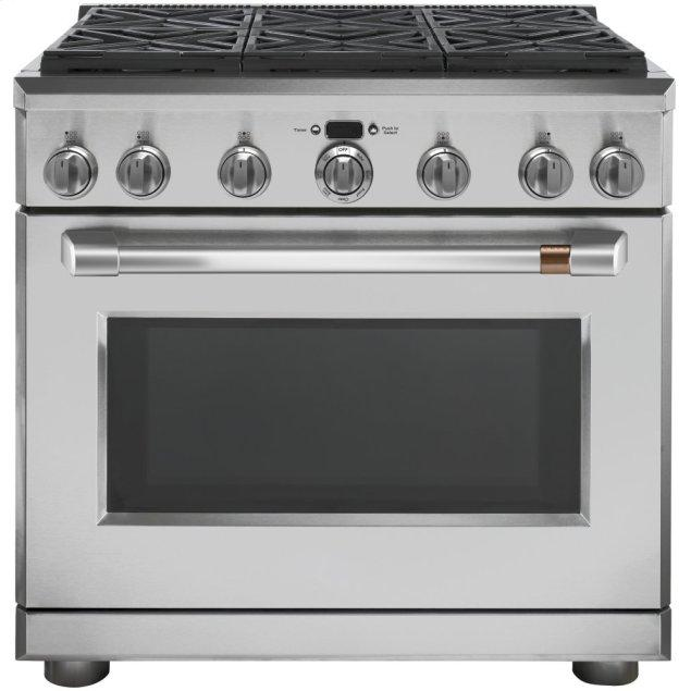 """Cafe Appliances 36"""" Dual-Fuel Professional Range with 6 Burners (Natural Gas)"""