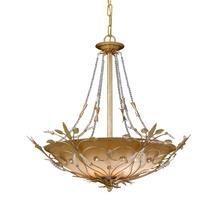 Primrose 6 Light Faceted Crystal Beads Gold Chandelier