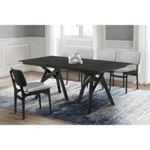 Cortina and Lima 5 Piece Black Rectangular Dining Set