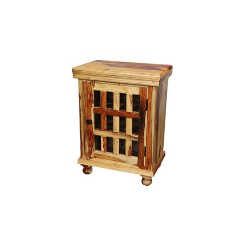 Porter International Designs - Tahoe 12 Pane Bedside Table, PDU-1085N