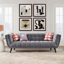 Bestow Performance Velvet Sofa in Gray