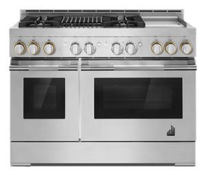 """RISE™ 48"""" Gas Professional-Style Range with Chrome-Infused Griddle and Grill"""