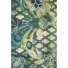 CORONADO 0520F IN NAVY/GREEN 4' x 6'