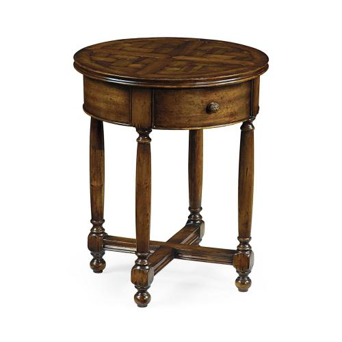 Parquet round lamp table