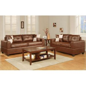 Gallery - 2-Pcs Sofa Set Bonded leather Match/Brown