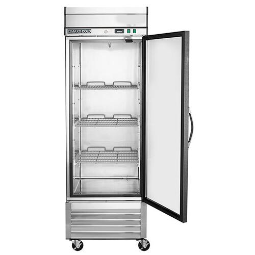 MXSR-23GD Reach-In Refrigerator, Single Door, Bottom Mount, Glass