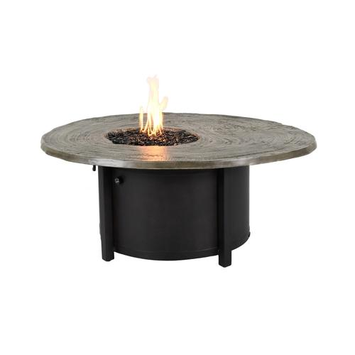 Castelle - Nature's Wood Round Firepit Coffee Table