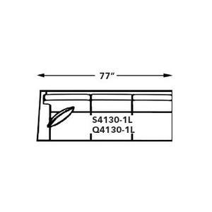 Capris Furniture - 1-ARM SOFA