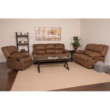 Harmony Series Chocolate Brown Microfiber Reclining Sofa Set