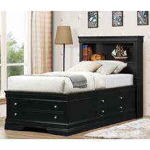 See Details - Black Lp Storage Bed - King Size