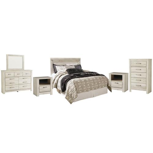Ashley - Queen Panel Headboard With Mirrored Dresser, Chest and 2 Nightstands