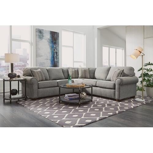 - Presley Fabric Sectional with Nailhead Trim