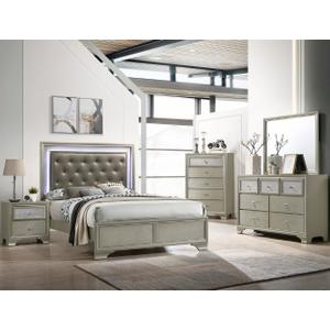 Landyn Twin LED Headboard+footboard