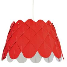 1lt Amirah Pendant Jtone Red, Polished Chrome