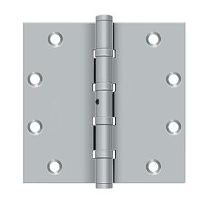 "5"" x 5"" Square Hinges, Ball Bearings - Brushed Chrome"
