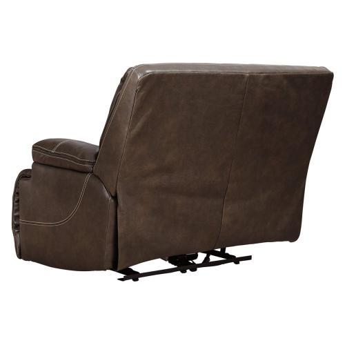 Ricmen Wide Seat Power W/Adj Hdrst Recliner Walnut