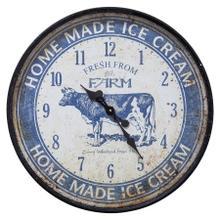 See Details - Ice Cream Farm Blue Wall Clock