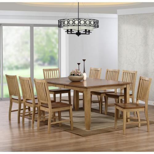 Extendable Table Dining Set (9 piece)