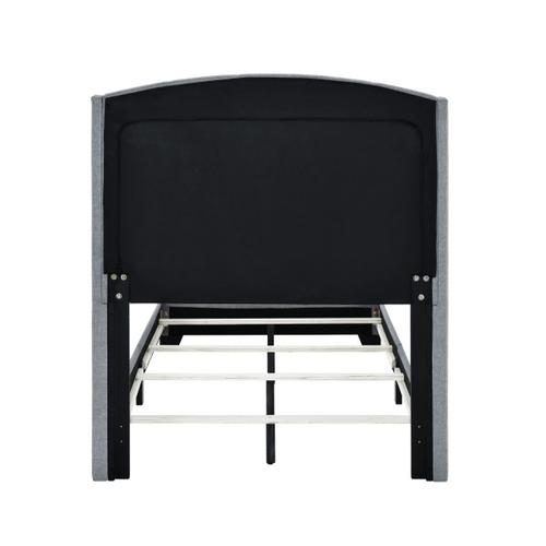 Accentrics Home - Twin Tufted Wing Bed in Smoke