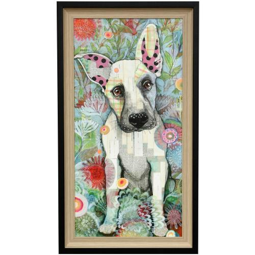 Style Craft - ZOZO GIRL  23in w X 41in ht  Textured Framed Print  Made in USA