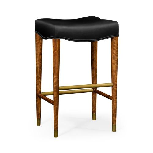 Daniella Light cosmo barstool with black leather